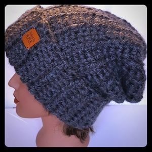 Handmade Slouchy Crochet Adult Winter Hat.